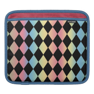 Harlequin Pattern-with Pastel Background Sleeves For iPads