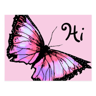 """Harlequin"" (Pink Butterfly) Postcard"