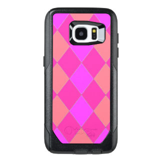 Harlequin-Quilt_Melon_Lilac_Rose OtterBox Samsung Galaxy S7 Edge Case