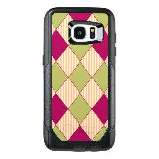 Harlequin-Quilt_Pink_Olive-Rose OtterBox Samsung Galaxy S7 Edge Case