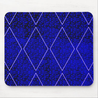 Harlequin-Royal--Blue-Diamond_Floral_Unisex Mouse Pad