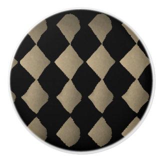 """""""Harlequin-Sepia"""" Ceramic Knob"""