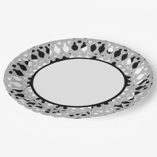 Harlequin-Silver-Shield_Everyday-Plates Paper Plate
