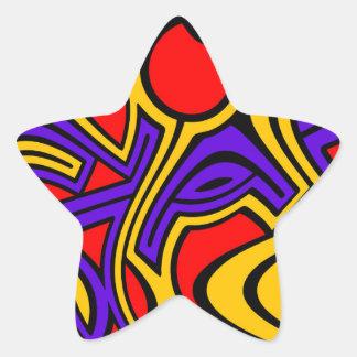 Harlequin Star Sticker