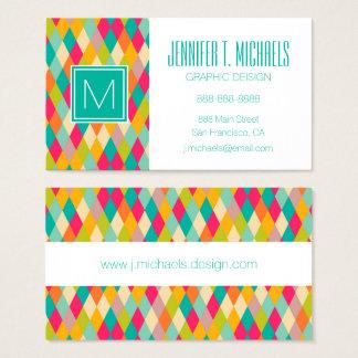Harlequin vintage pattern business card