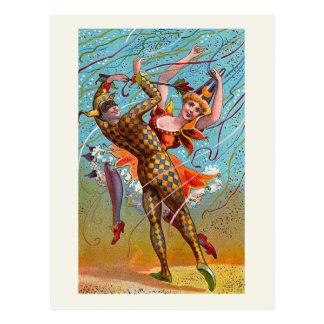 """""""Harlequin"""" Vintage Postcard"""