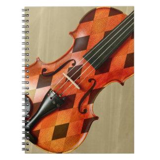 Harlequin Violin Spiral Notebook