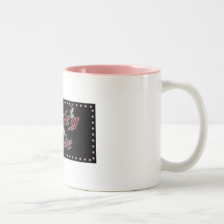harley babe Two-Tone coffee mug