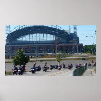 Harley Davidson 105 Anniversary in Milwaukee Poster