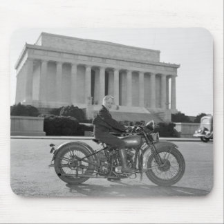Harley Davidson Motorcycle - First Woman Mouse Pad