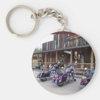 Harley Davidson Motorcycles Western Saloon Basic Round Button Keychain