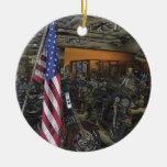 Harley Davidson Round Ceramic Ornament