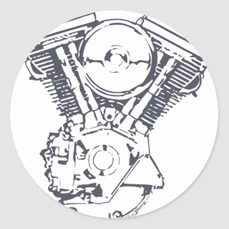 Harley Evolution V-Twin Round Sticker
