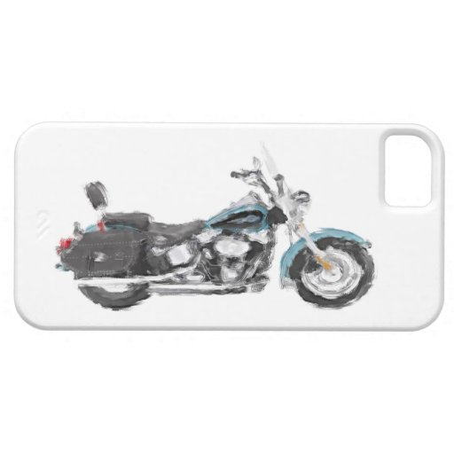Harley FLSTC Heritage Softail Hand Painted Brush iPhone 5 Case