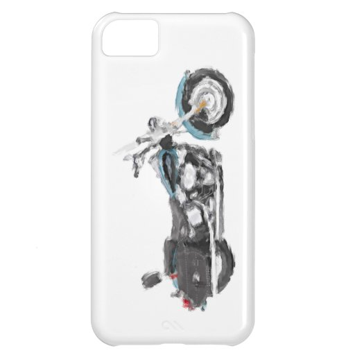 Harley FLSTC Heritage Softail Hand Painted Brush iPhone 5C Case