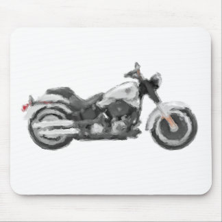 Harley FLSTFB Fat Boy Hand Painted Art Brush Mouse Pad