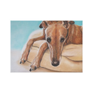 Harley Greyhound Dog Art Print
