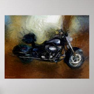 Harley Motorcycle Fine Art Print