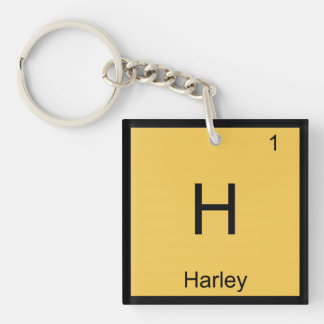 Harley  Name Chemistry Element Periodic Table Single-Sided Square Acrylic Keychain