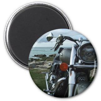 harley on beach magnet