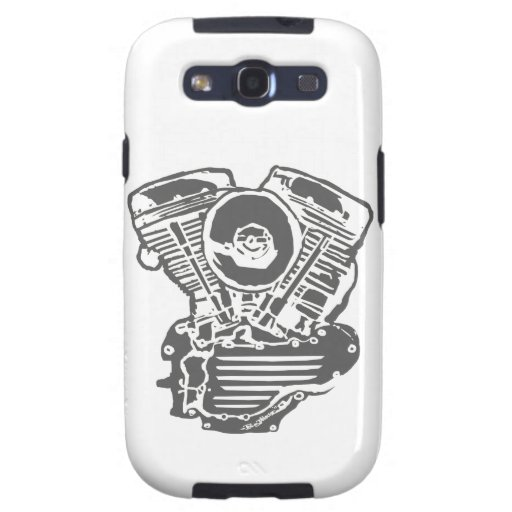 Harley Panhead Engine Drawing Galaxy SIII Cases