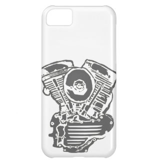 Harley Panhead Engine Drawing iPhone 5C Cases