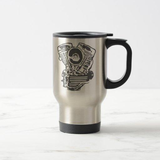 Harley Panhead Engine Drawing Coffee Mugs