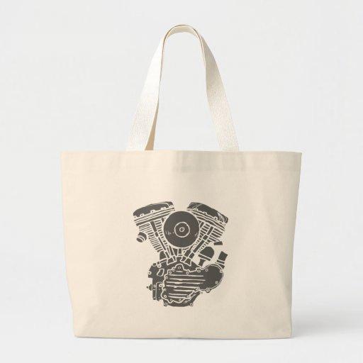Harley Panhead Motor Drawing Bag