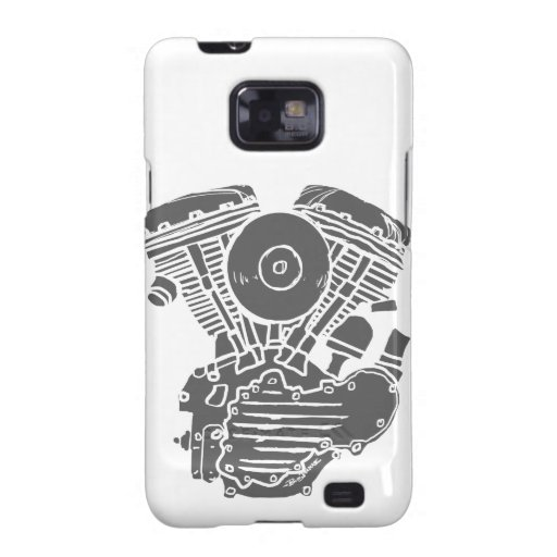 Harley Panhead Motor Drawing Samsung Galaxy SII Covers
