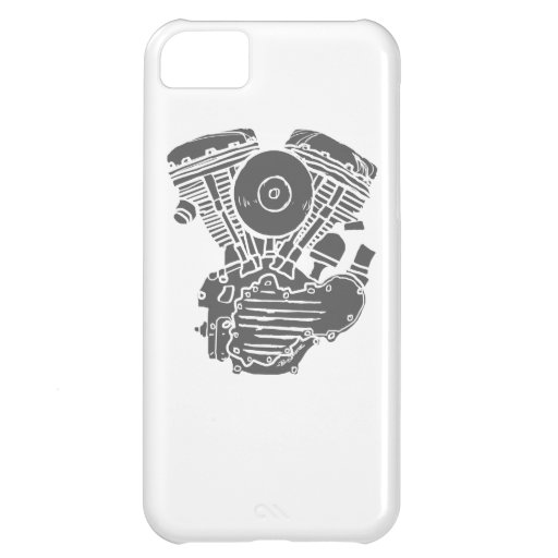 Harley Panhead Motor Drawing Case For iPhone 5C
