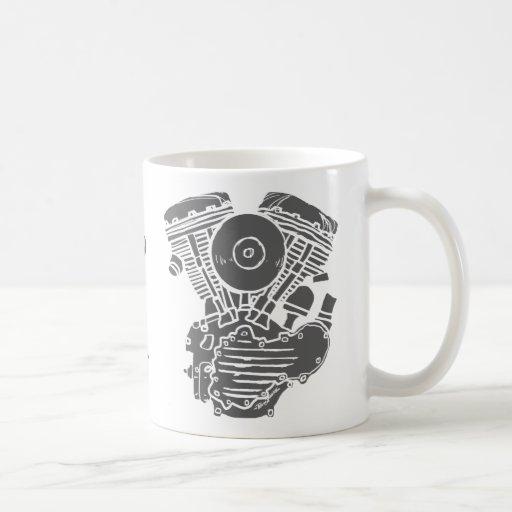 Harley Panhead Motor Drawing Coffee Mug