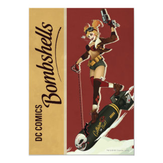 "Harley Quinn Bombshell 5"" X 7"" Invitation Card"