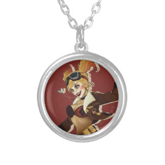 Harley Quinn Bombshells Pinup Silver Plated Necklace