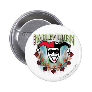 Harley Quinn - Face and Logo 2 Inch Round Button