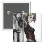 Harley Quinn Illustration Buttons