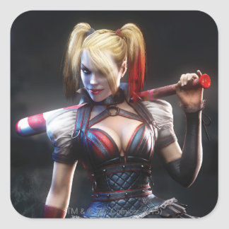 Harley Quinn With Bat Square Sticker
