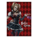 Harley Quinn With Fuzzy Dice Greeting Card