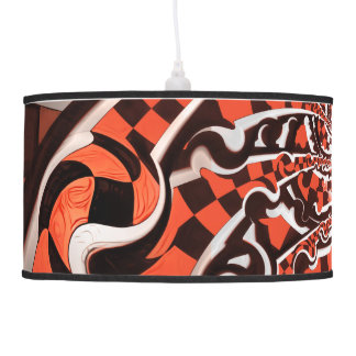 Harley Quinn's Peppermint Candycan Kissed Fractals Pendant Lamp