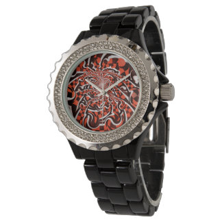 Harley Quinn's Peppermint Candycan Kissed Fractals Watch