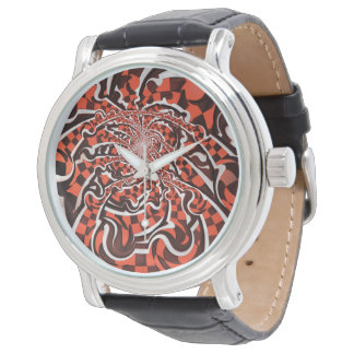 Harley Quinn's Peppermint Candycan Kissed Fractals Watches