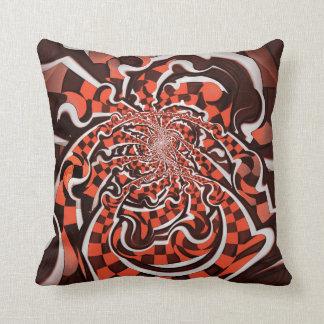 Harley Quinn's Peppermint Candycane Kissed Fractal Throw Pillow