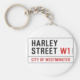 Harley Street Basic Round Button Keychain