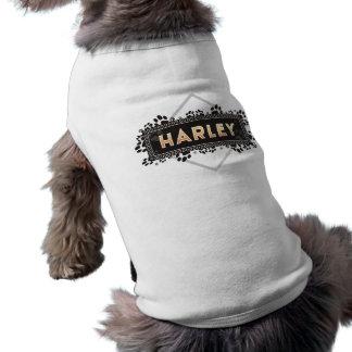 Harley - T-shirt de chien - conception noire T-shirt Pour Toutou