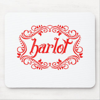 Harlot White Mouse Pad