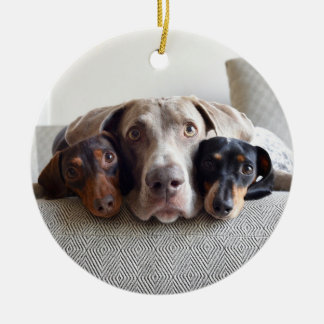 Harlow, Indiana and Reese Ceramic Ornament