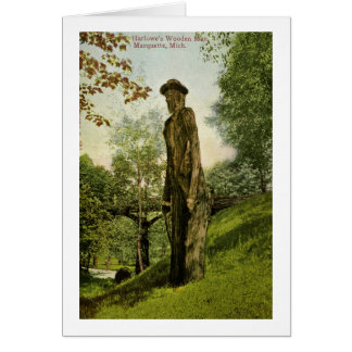 Harlow's Wooden Man Marquette, Michigan Card