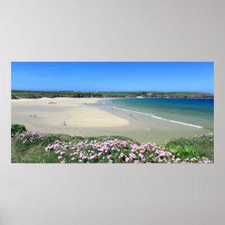 Harlyn Bay Panoramic Poster