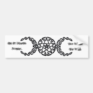 Harm None bumper sticker