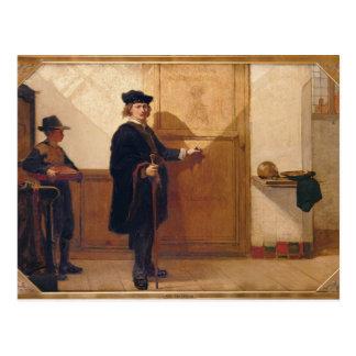 Harmensz van Rijn Rembrandt (1606-69) Knocking on Postcard