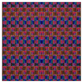 Harmonic Melancholy Abstract-Patterned Fabric